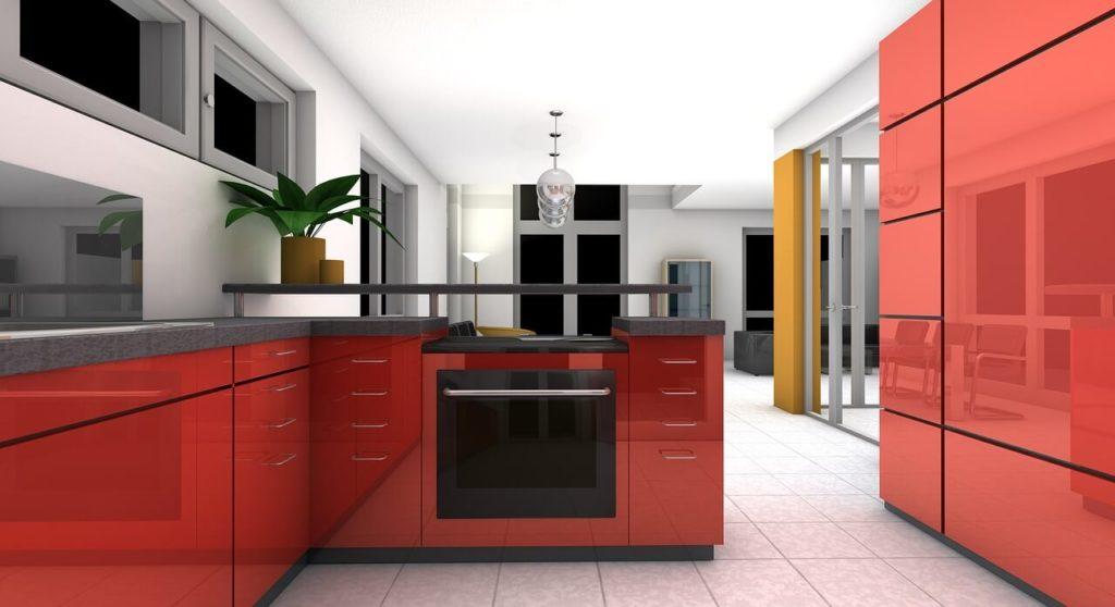 На фото изображена кухня в жилом помещении.