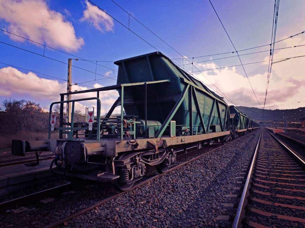 На фото грузовой вагон.